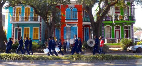 Parade In Front Of House