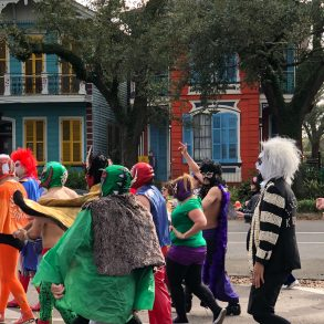 Every day is colorful in New Orleans